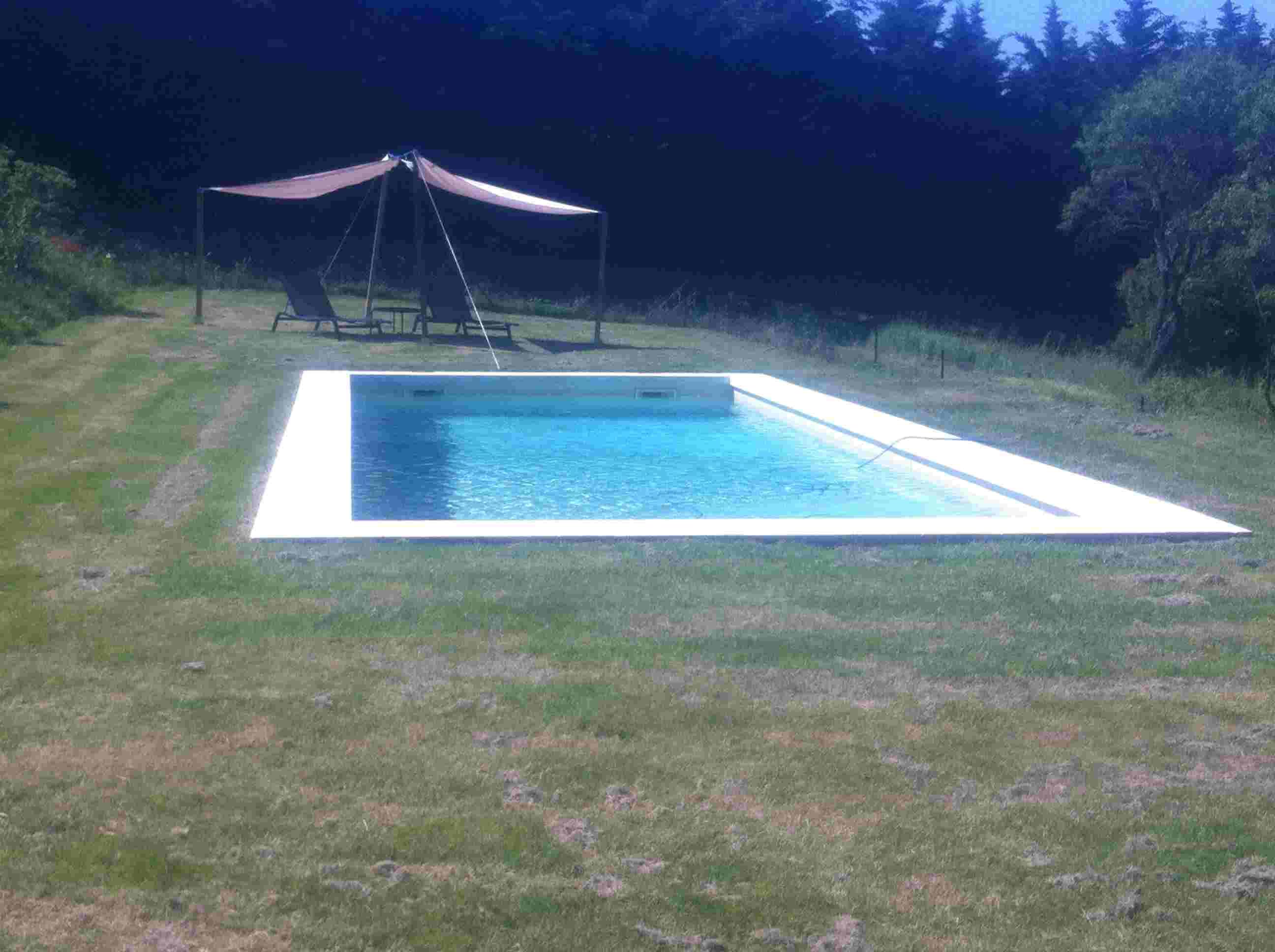 piscine avec retour gazon